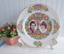Plate Royal Wedding Prince Charles And Lady Diana Floral 1981 Pretty