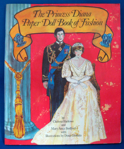 Paper Dolls Prince Charles And Princess Diana Royal Wedding 1981 Book