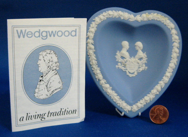 Heart Dish Birth Prince William Charles Diana Wedgwood 1982 Jasperware Boxed