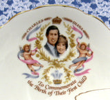 Birth Of Prince William Charles And Diana Cup And Saucer 1982 Regency