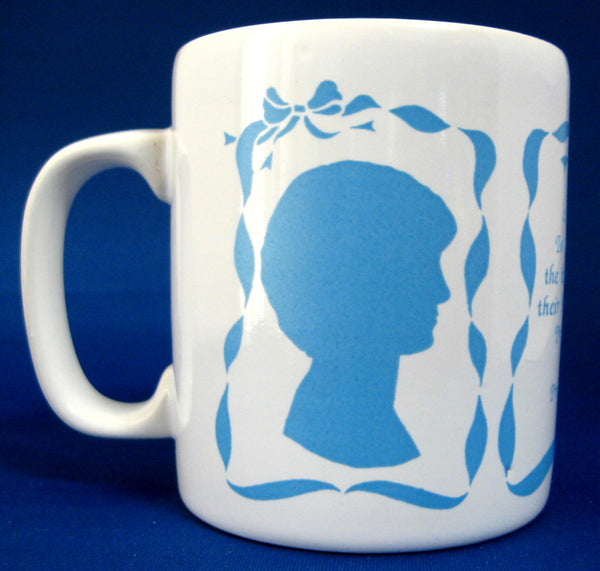 Mug Birth Of Prince William 1982 Charles And Diana Ceramic Blue White