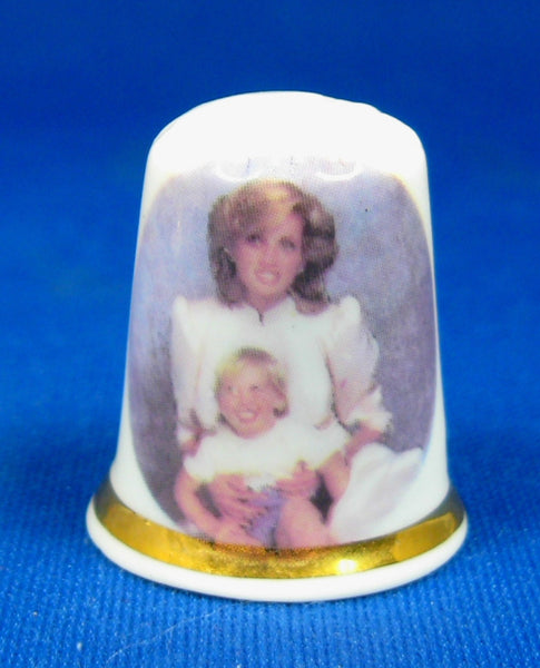 Princess Diana And Prince William Thimble English Bone China 1984