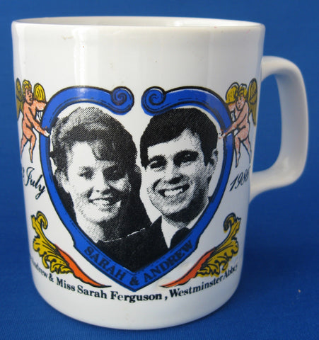 Souvenir Mug Prince Andrew And Fergie 1986 Royal Wedding Royal Commemorative