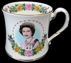 Queen Elizabeth II Coalport 60th Birthday Mug 1986 England
