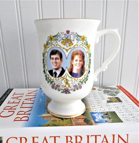 Prince Andrew And Fergie Souvenir Tall Mug Royal Wedding 1986 Coalport Royal