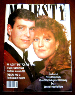UK Majesty Magazine Andrew And Sarah Cover Mar 1988 Princess Diana