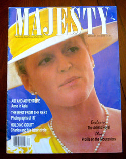 Royalty Majesty Magazine Sarah Ferguson 1988 Princess Diana Prince William Royal Artists