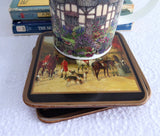 Coasters English Victorian Hunting Scenes Set Of 4 Pimpernel 1990s Cork Back