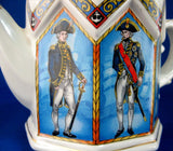 Teapot Battle Of Trafalgar Lord Nelson Octagonal Naval Heroes Made In England