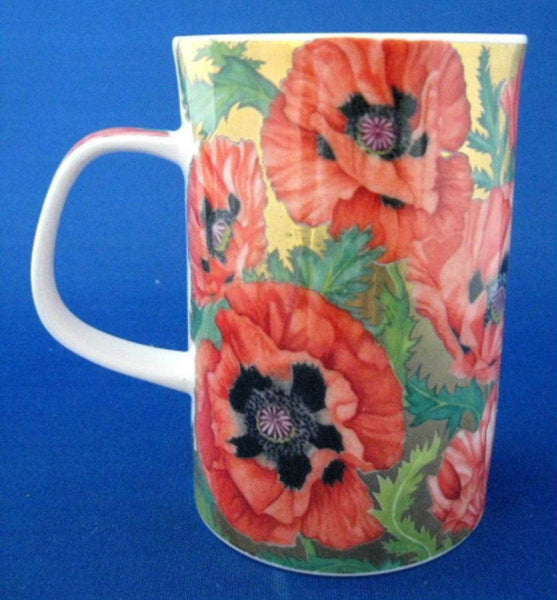 Poppies Dunoon Mug Jane Brookshaw 2002 English Bone China