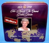 Queen Elizabeth II 2002 Golden Jubilee Tea Tin Biscuits Walkers Shortbread Large