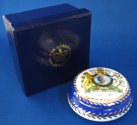 Lidded Box Queen Elizabeth II Golden Jubilee 1952-2002 Fancy In Box