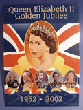 Tin Sign Queen Elizabeth II Golden Jubilee Geaneology 2002 Royal Souvenir