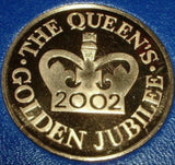 Queen Elizabeth II Gold Jubilee Commemorative Medallion Mint Cased Medal 2002