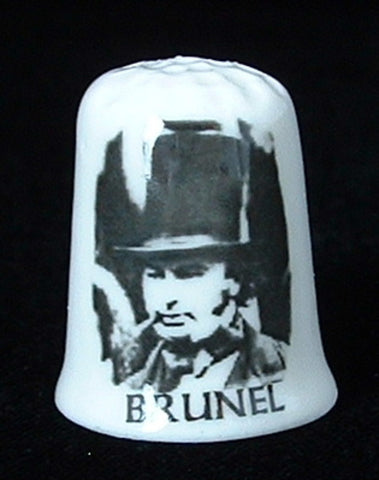 Thimble Brunel Anniversary 1706-2006 Bone China England Famous Engineer Sewing