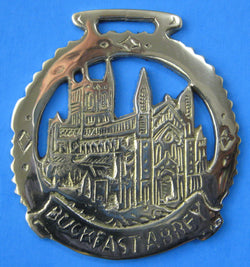 Horse Brass Buckfast Abbey Devon England Mint 2008 Historic Abbey