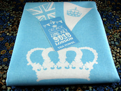 Tea Towel Prince George Birth William Kate Blue And White NWT Royal Birth