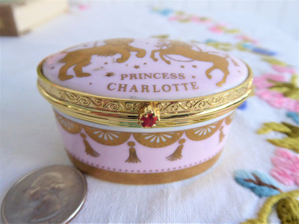 Birth of Princess Charlotte Trinket Box Numbered William Kate 2015 Royal Birth Buckingham Palace