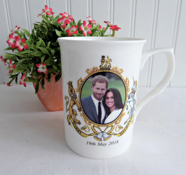 Harry And Meghan Markle Royal Wedding Mug Adderley Bone 2018 Royal Commemorative
