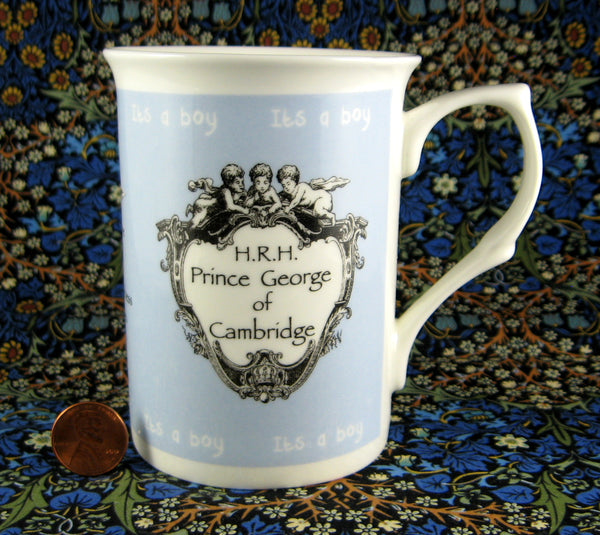 Mug Birth Of Prince George 2013 William Kate Adderley English Bone China