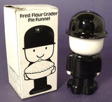Pie Funnel Figural Homepride Fred The Flour Grader Ceramic England Vent Original Box 1965-1970s