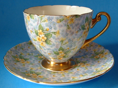 Shelley Primrose Chintz Ripon Cup and Saucer England