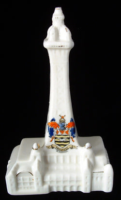 Shelley China Crested China Blackpool Tower Figural Edwardian 1900-1910s