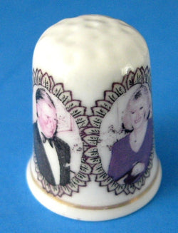 Thimble Prince Charles Camilla April 8 Royal Wedding 2005 English Bone China Commemorative