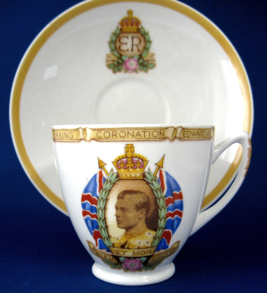 Shelley Cup and Saucer King Edward VIII Abdicated 1937 York Shape