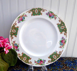Shelley England Dinner Plate Empress Green Bone China 10.75 Inches Dinner Party