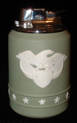 Wedgwood Green Jasper Lighter Ronson Federal Eagle 1970s