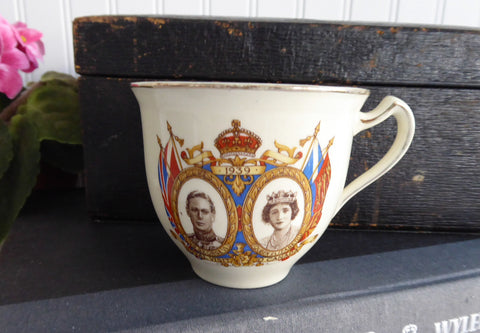 George VI Elizabeth and Princesses Cup Only Canada Royal Visit 1939 Canadian Souvenir