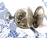 Edwardian Ladies Pocket Watch Chatelaine Enamel 800 Swiss Not Running