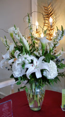 """Regal Spirit"" Display (Lilies,Hydrangeas and Calla Lilies)"