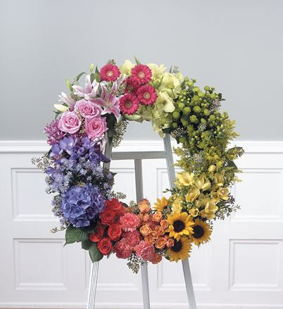 """Colorful Garden Wreath"""