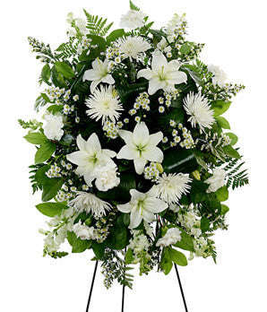 White Easel Spray (Gorgeous Mum Flowers)