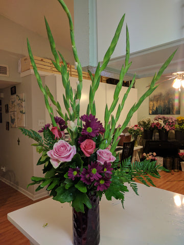 """Lavender Heart"" Flower Arrangement"
