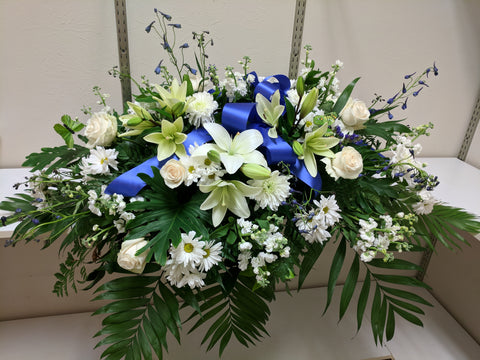 Blue and White Casket