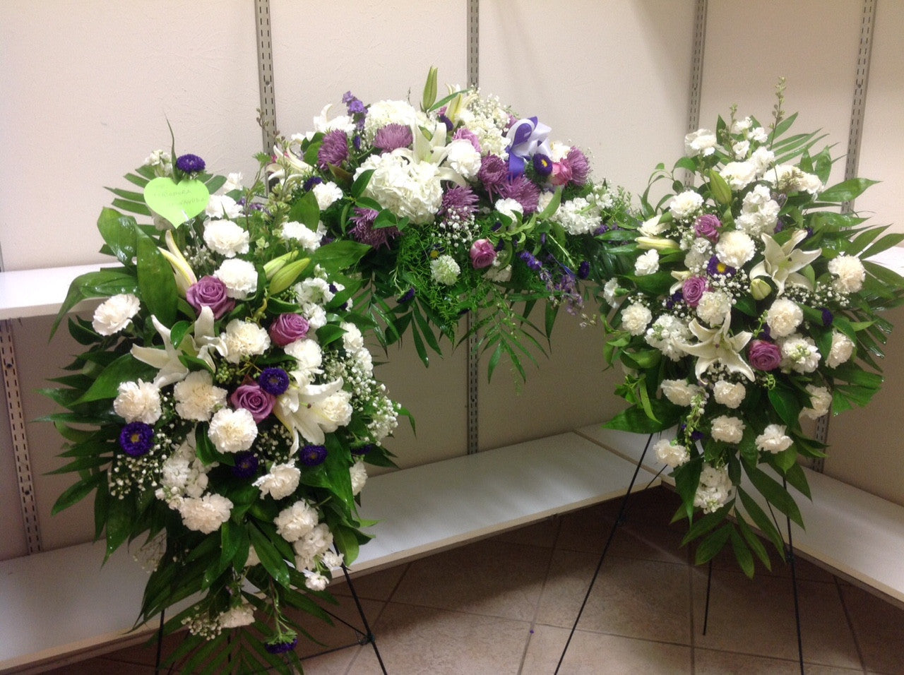 Flora funeral flowers are happy flora funeral offer sympathy spirit of love funeral flower package two easel one casket izmirmasajfo