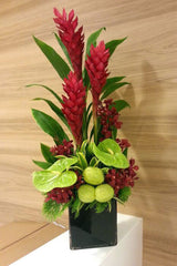 """Nature Speaks..."" Ginger, Anthurium and Orchid Arrangement"