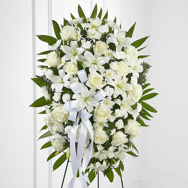 """Easel Spray All-White premium flowers"""