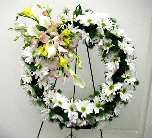 Regal Wreath ( White and Light pink)