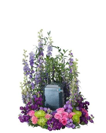 Urn Flowers (pink and purple)