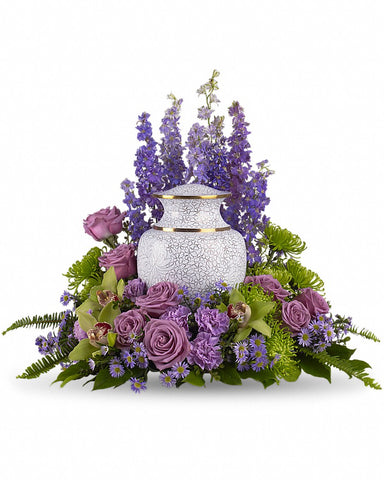 Urn Flowers (with orchid )