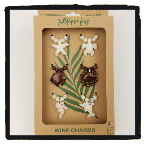 Sea Life Wine Charms
