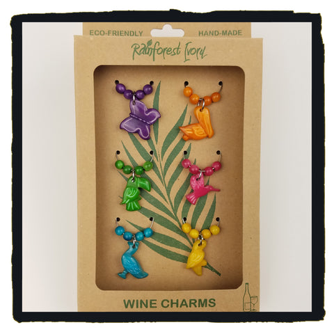 Bird Wine Charms