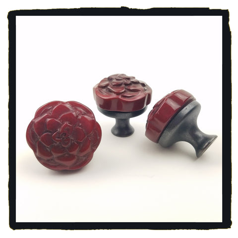 Dark Red Rose Medallion