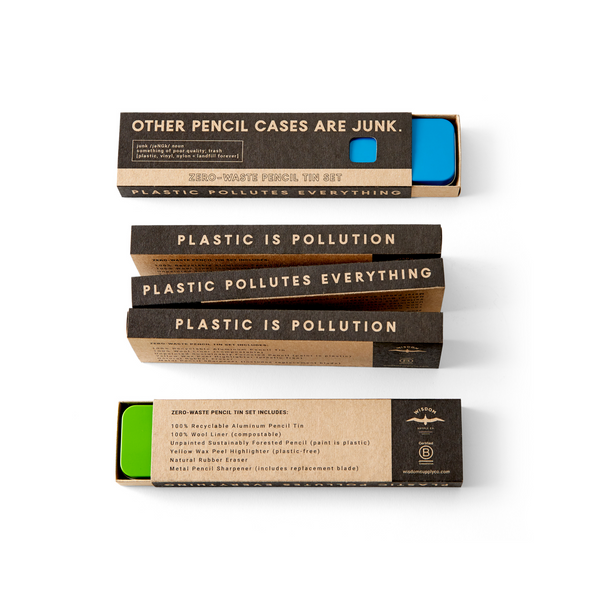 Zero-Waste Pencil Tin Set