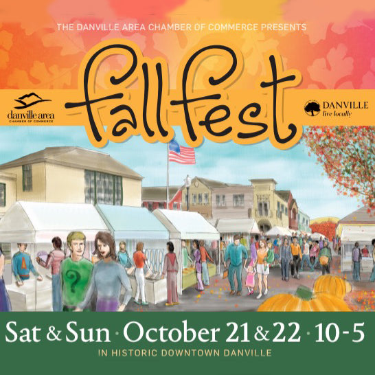 Come see us at the Danville FallFest this weekend!!