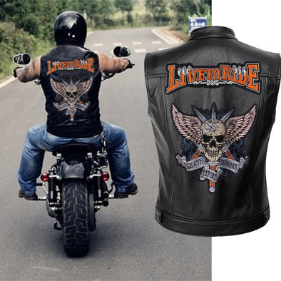 Mens Leather Motorcycle